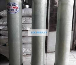 Bo 3 cot loc nuoc composite di Ninh Thuan