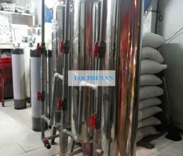 Bo 3 tru inox d300 xu ly nuoc gieng khoan di Da Nang