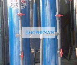 Cot loc nuoc nhua PVC 220 mau xanh