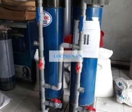Giao bo xu ly nuoc gieng tru nhua 250 di Moc Bai, Tay Ninh