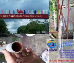 Lap dat bo loc nuoc gieng khoan huyen Bau Bang Binh Duong