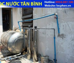 Loc nuoc may inox van 3 nga o Phan Xich Long