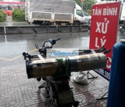 Cot loc nhua PVC di Soc Trang