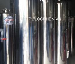 Xu ly nuoc gieng 03 cot inox 350 su dung van 3 nga