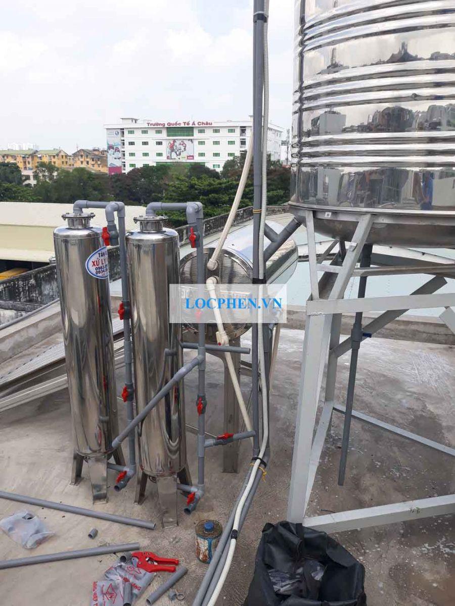 Thiết bị lọc nước máy gia đình ở Coop mart Quang Trung