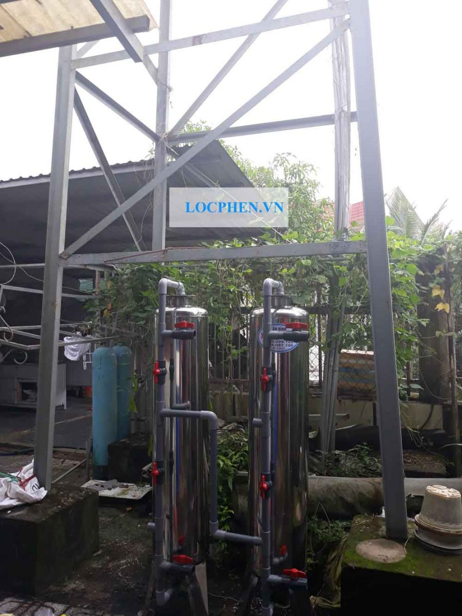 Lắp đặt bộ lọc nước giếng khoan d300 biệt thự củ chi