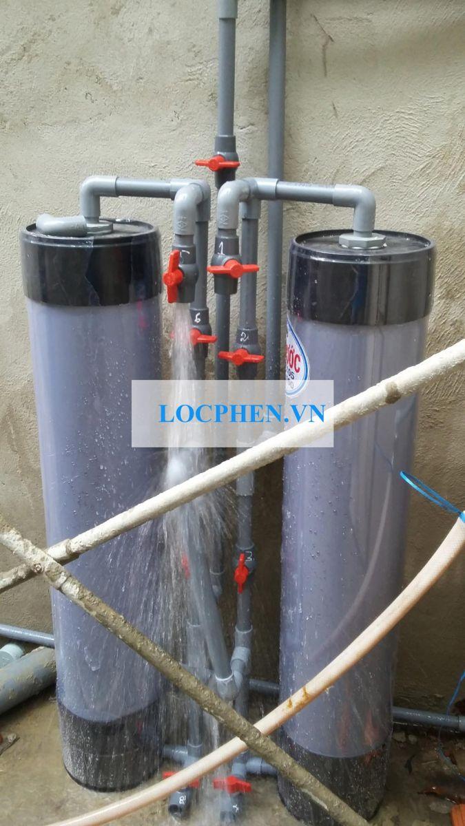 Lắp đặt bộ lọc nước giếng khoan cầu Rạch Gia đường Vườn Lài Q12