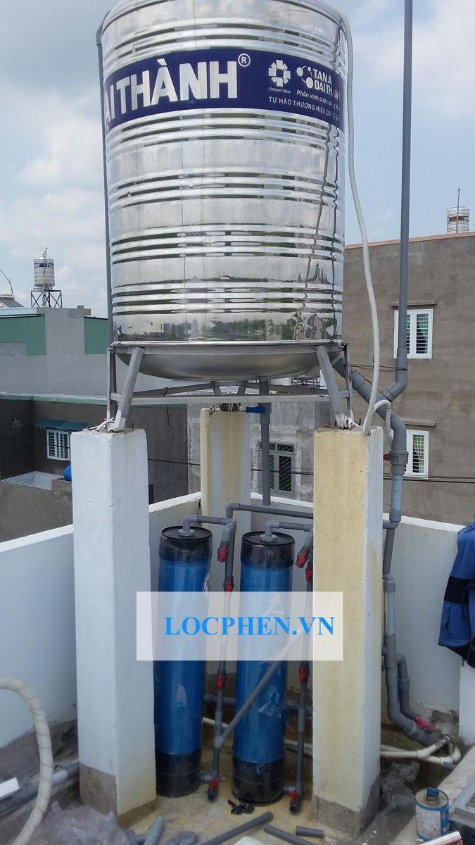 Lắp đặt bộ lọc nước giếng khoan đường Bà Điểm 4