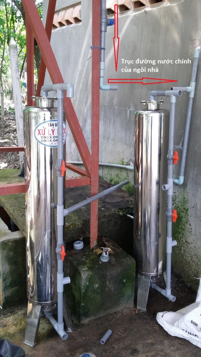 Hướng dẫn lắp ráp cột lọc nước cho khách hàng ở tỉnh xa