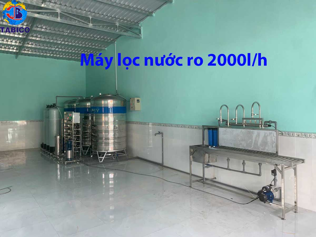 máy lọc nước ro 2000l/h