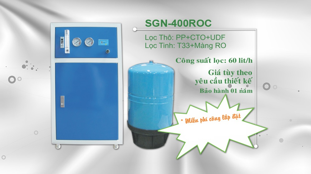 may loc nuoc cong suat 60l