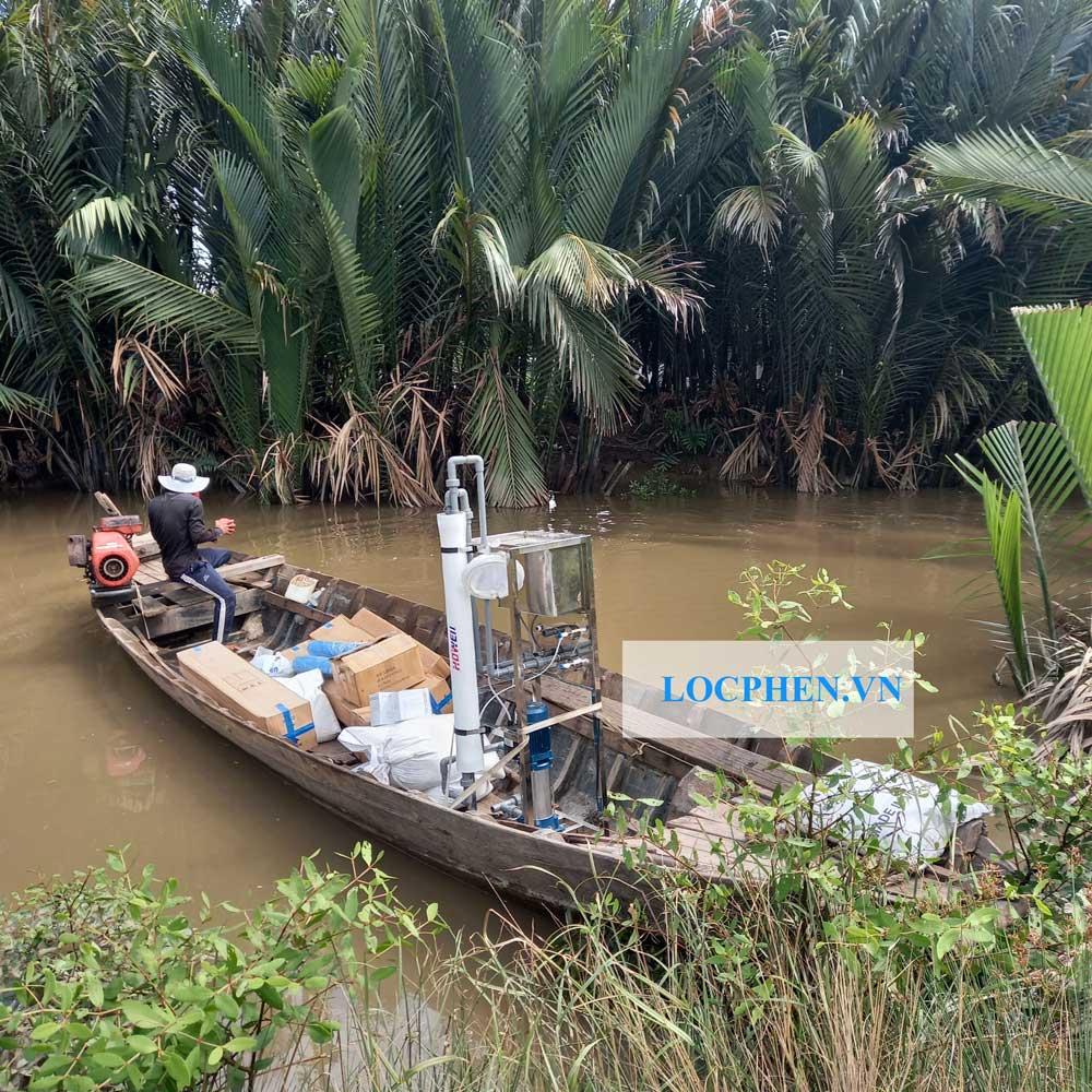 Dàn máy lọc nước mặn 250l/h lắp đặt tại Long An