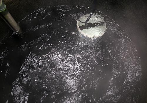 nước giếng nóng khi được khuấy lên