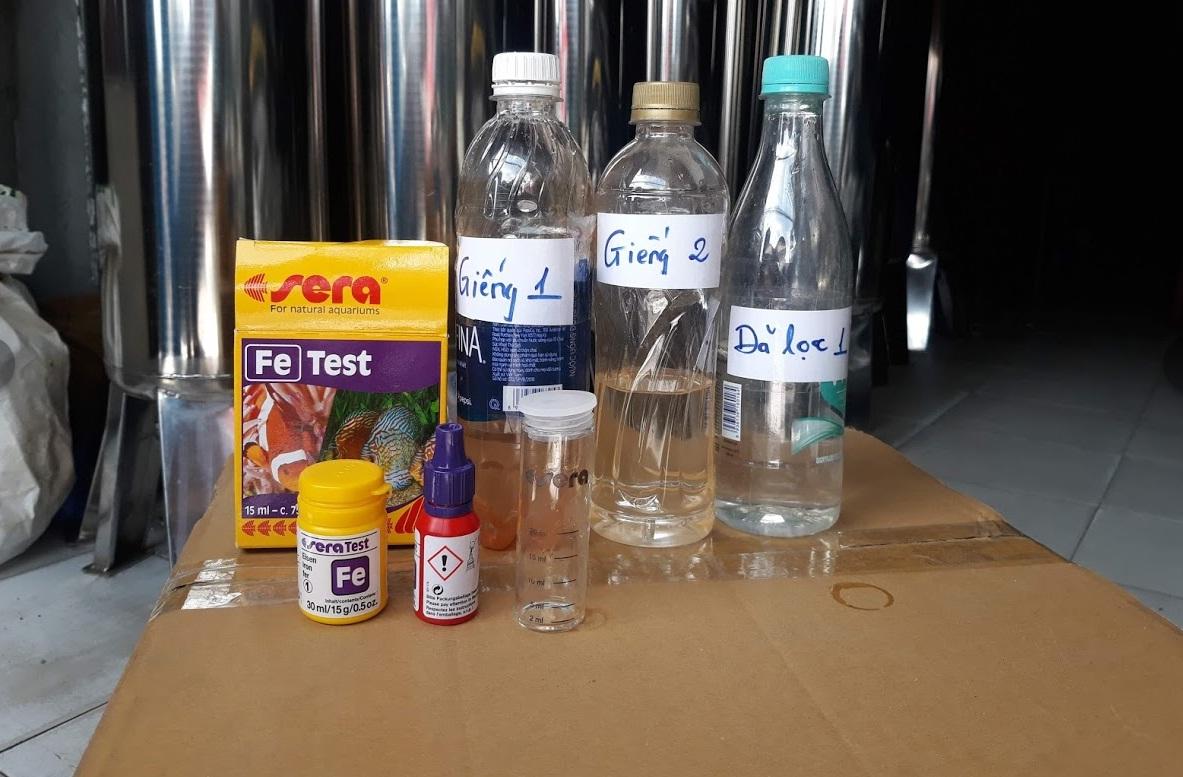 Bộ dung dịch kiểm tra nồng độ sắt trong nước