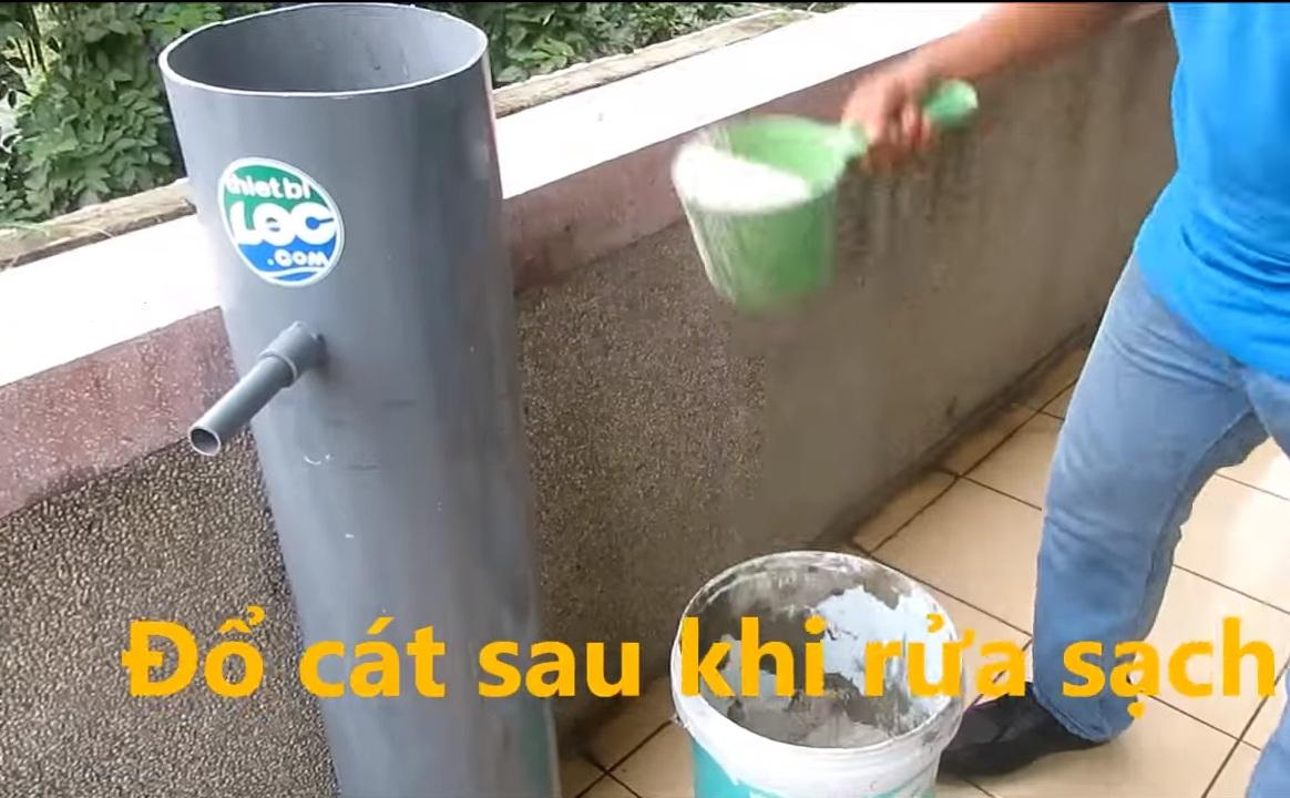 Lọc nước giếng khoan với ống lọc tự chế siêu rẻ