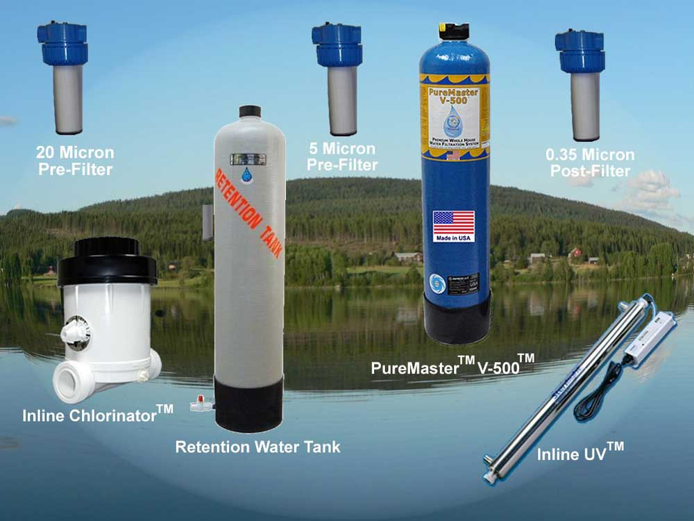 Household water filtration system