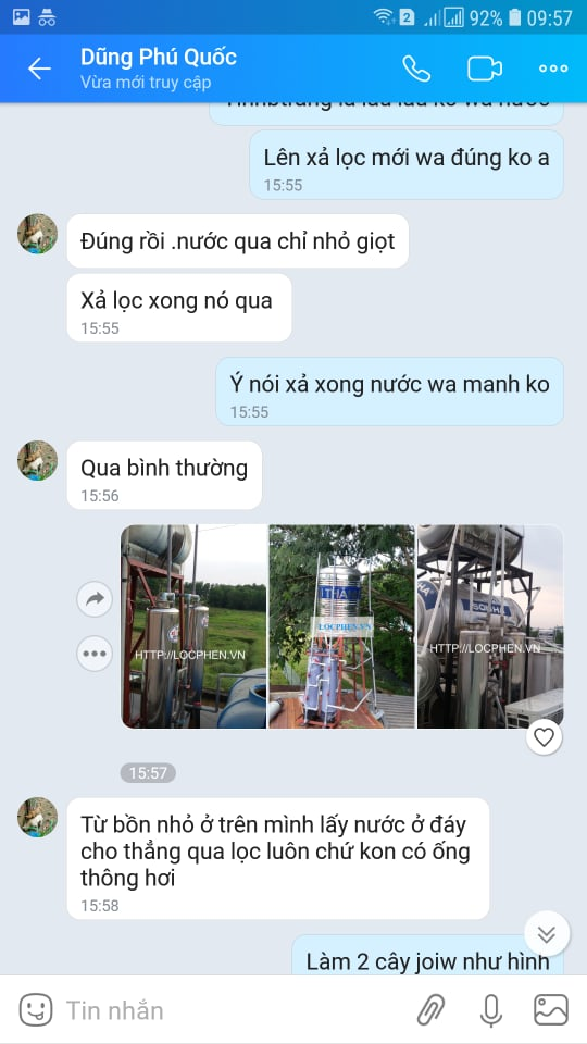 khac phuc loi khong ra nuoc cua cot loc