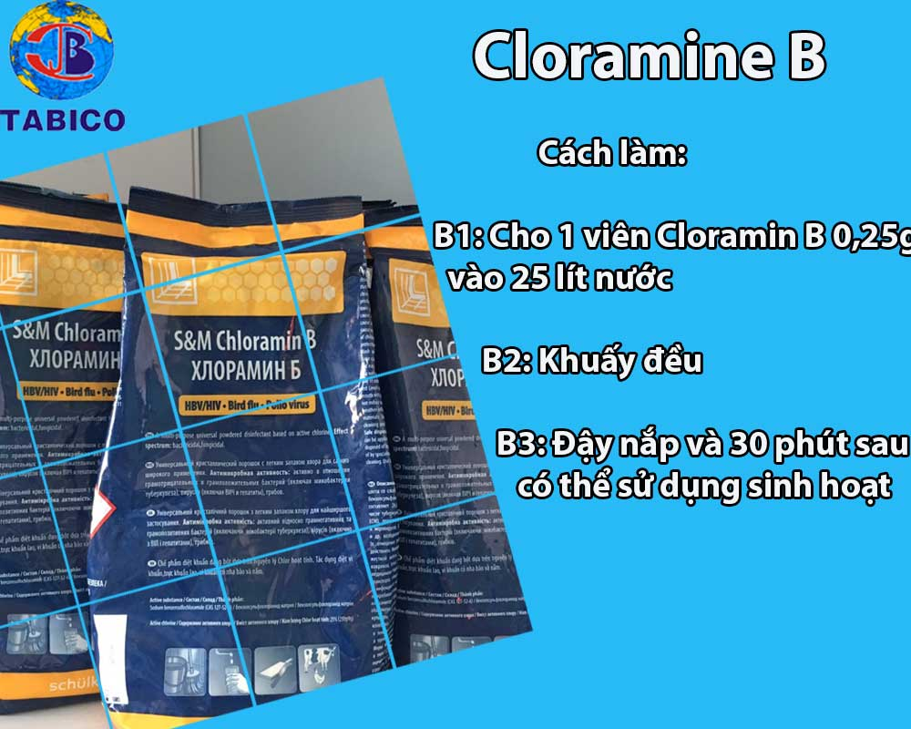 cach xu ly phen bang cloramine B 0,25g